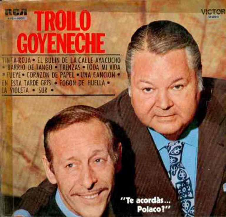 Goyeneche y Troilo en la portada del LP