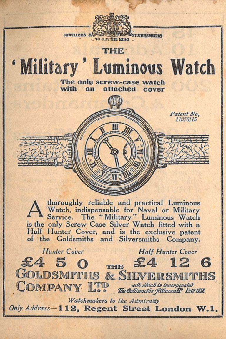La publicidad de uno de los relojes luminosos que se pintaban en las fábricas donde trabajaban las chicas del radio