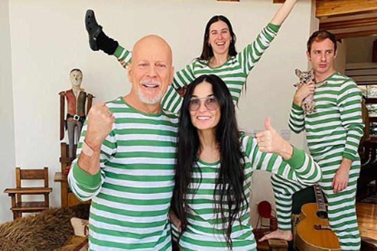 Bruce Willis y Demi Moore pasan la cuarentena junto a sus tres hijas