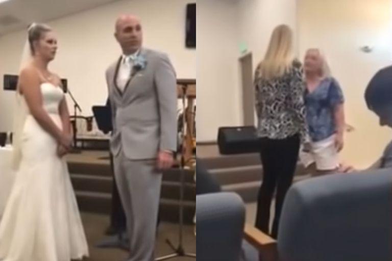 """""""Me va a robar a mi hijo"""": interrumpió la boda y atacó a su nuera en plena ceremonia"""