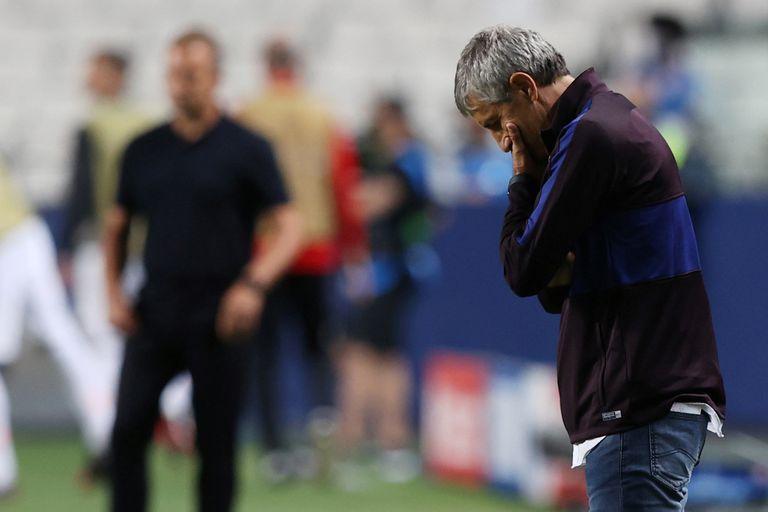 """Barcelona, humillado: Piqué habló de """"vergüenza"""" y el DT intuye su despido"""