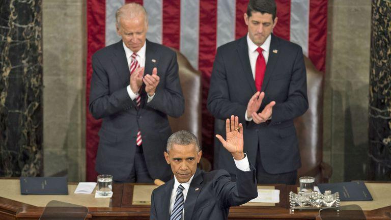 Obama comenzó a despedirse de su presidencia con su último discurso del Estado de la Unión