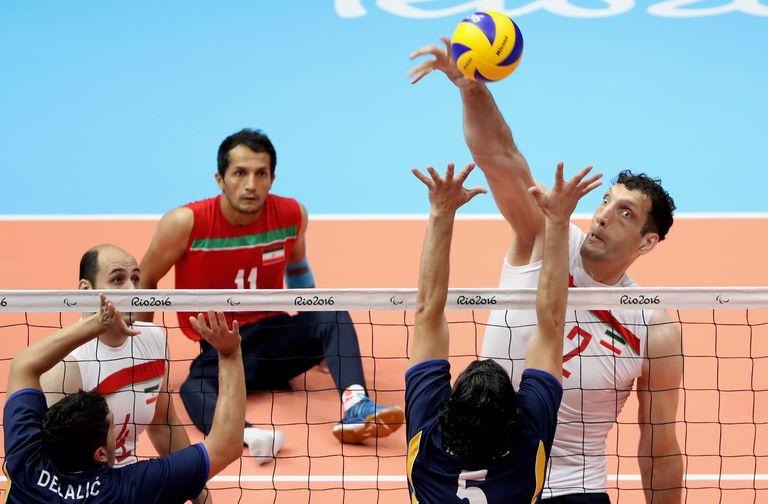 Morteza Mehrzad, durante la final de Río 2016 entre Irán y Bosnia; en Tokio busca su segunda medalla dorada