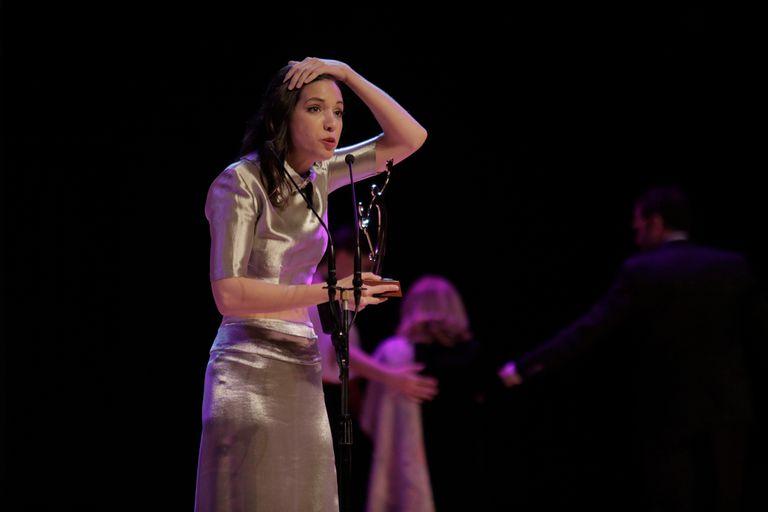 Marta Mediavilla ganó el premio a Mejor Intérprete de musical infantil y sus padres no pudieron contener la emoción