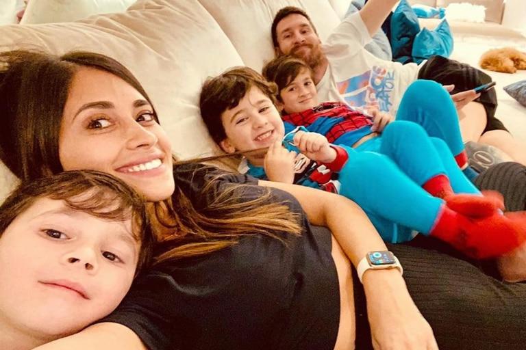 Antonela Roccuzzo compartió la felicidad de tenerlo a Lionel Messi de nuevo en su casa