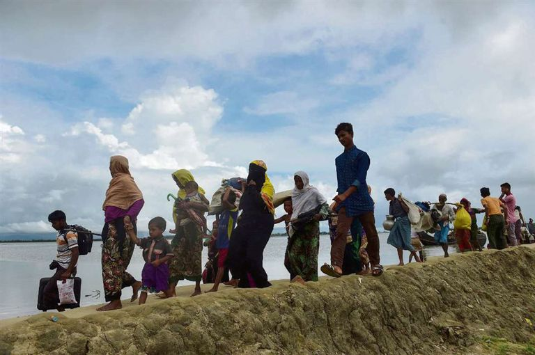 Desplazados de la etnia Rohingya