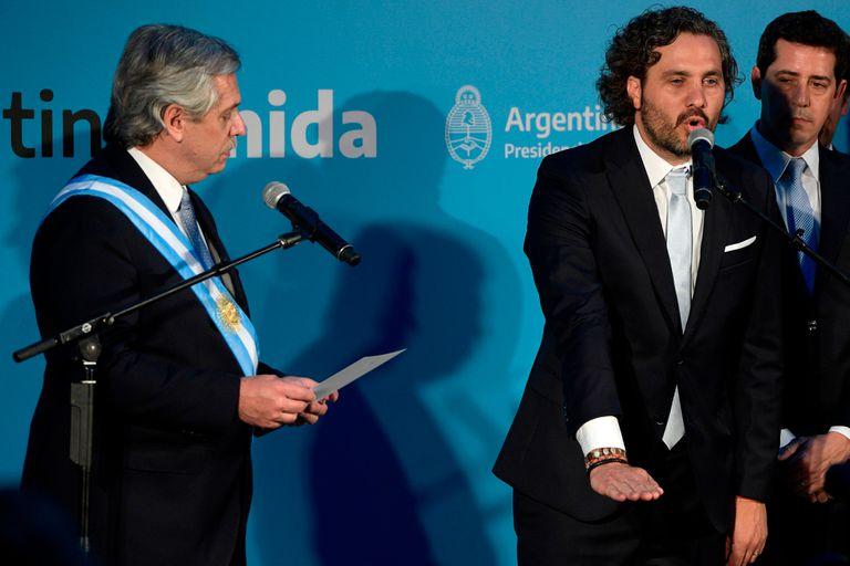 Alberto Fernández junto a Santiago Cafiero