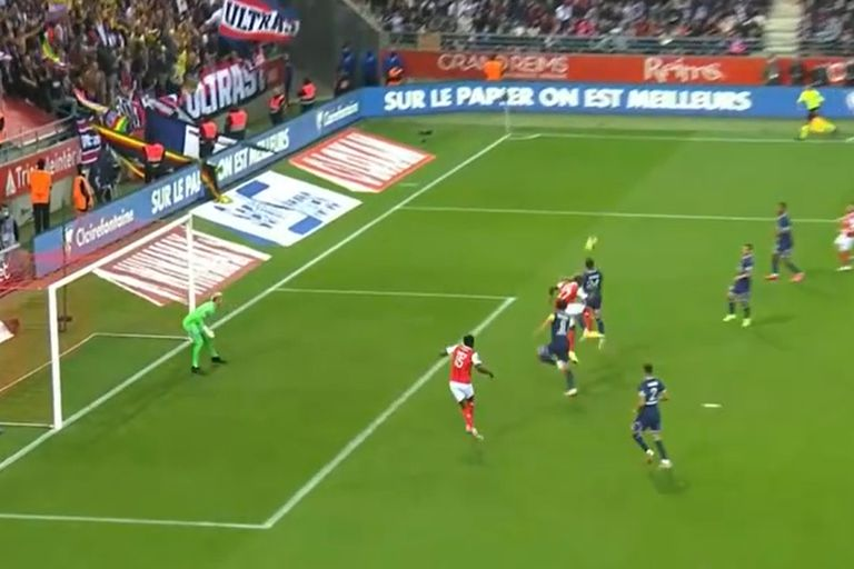 Munetsi, adelantado, convertirá el 1 a 1 para Reims, que el VAR anuló