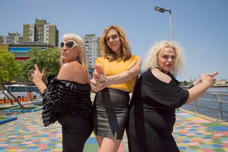 Naty Menstrual, Payuca del Pueblo y Maiamar Abrodos, actrices de Don Gil de las Calzas Verdes