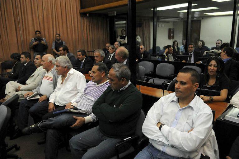 """Los acusados esta mañana en el Tribunal Orla, haciendo uso de la """"última palabra"""", antes del veredicto final"""