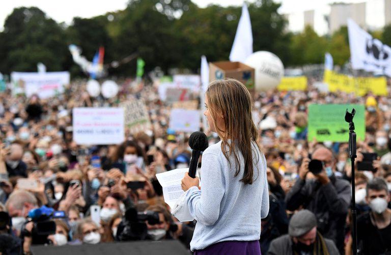 Greta Thunberg lideró la marcha mundial del clima para pedir medidas para frenar el cambio climático