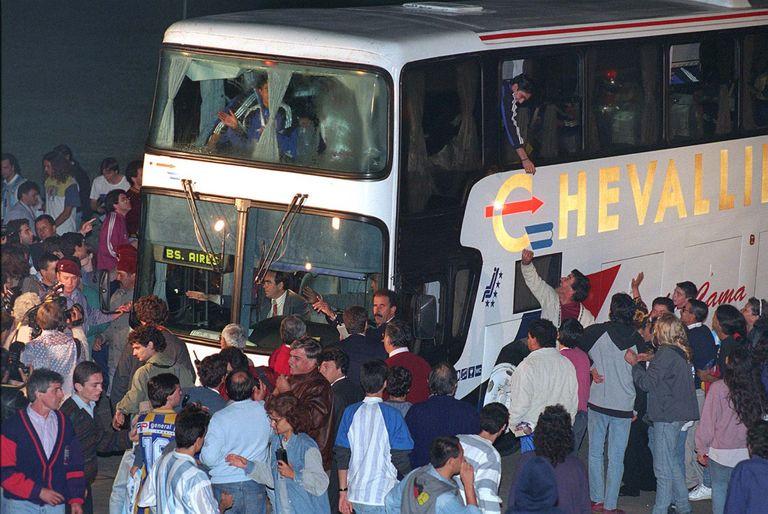 El plantel argentino campeón en Qatar llega a Ezeiza