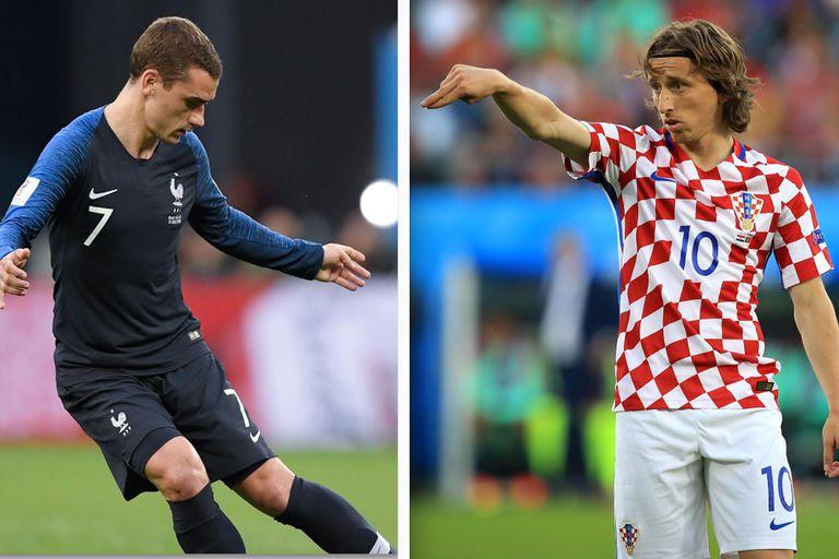 Francia-Croacia, Mundial Rusia 2018: horario, TV y formaciones
