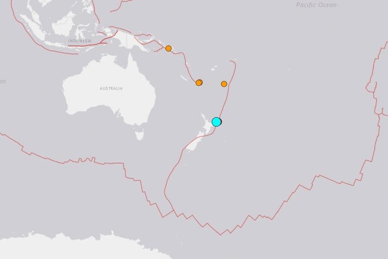 El sismo ocurrió a 180 km al noreste de la ciudad de Gisborne, en la Isla Norte