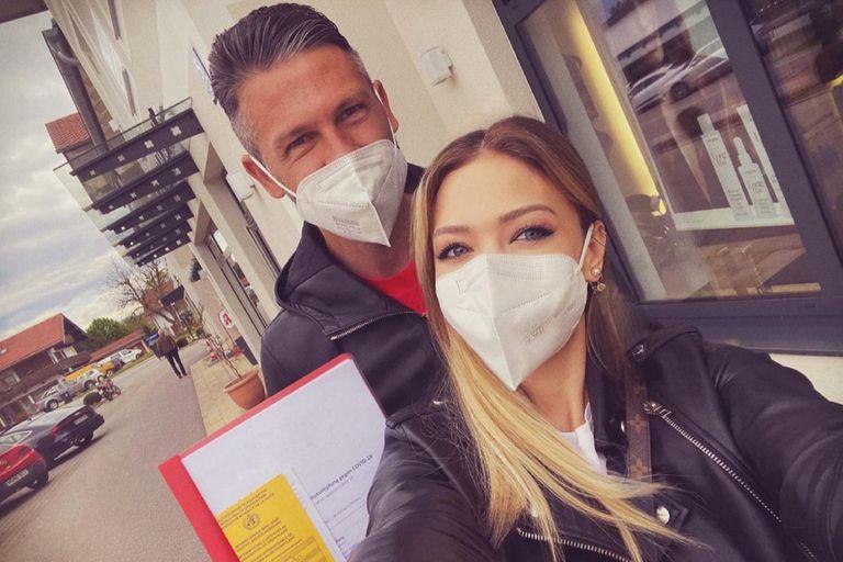 Coronavirus. Así se vacunaron Evangelina Anderson y Demichelis en Alemania
