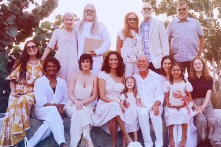 Demi Moore, invitada de honor en la boda de su ex Bruce Willis