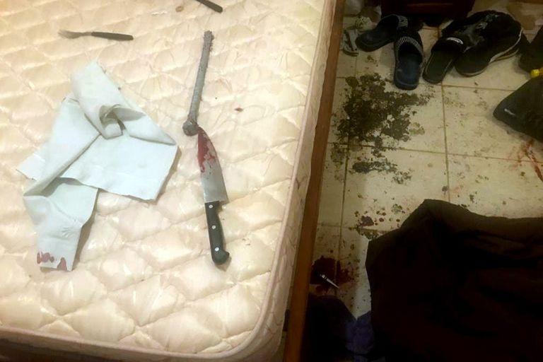 La supuesta arma homicida secuestrada por la policía