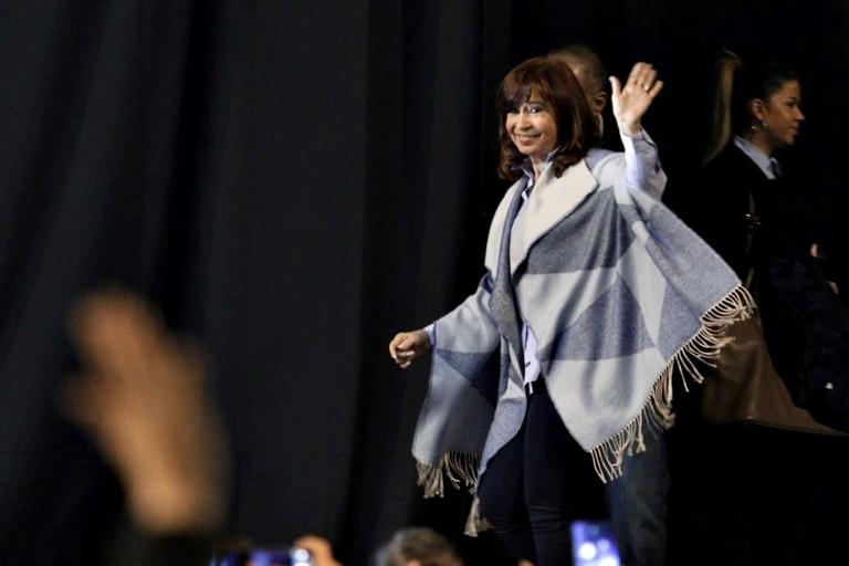 Cristina Kirchner al inicio del acto