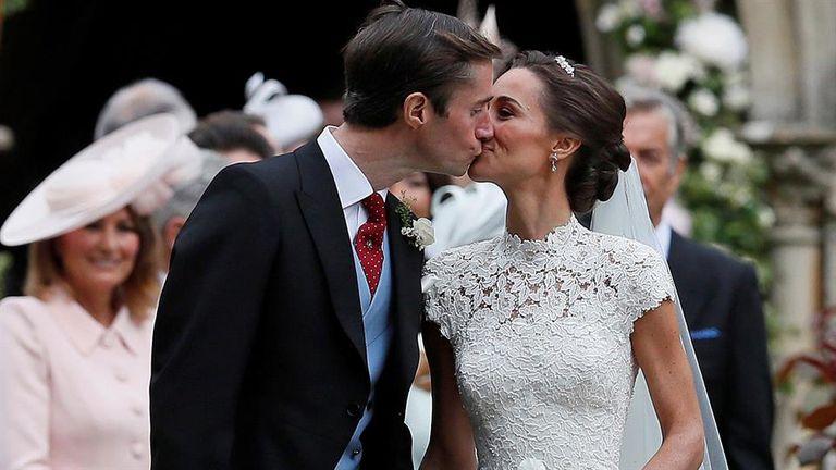 Pippa Middleton y su flamante marido, James Matthews