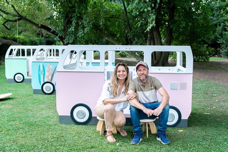 Melisa Pavía y Ezequiel Fridman, creadores de Grupo Carcajadas