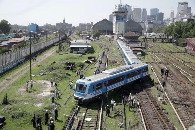 El tren descalzó al ingresar a la estación pero iba a baja velocidad