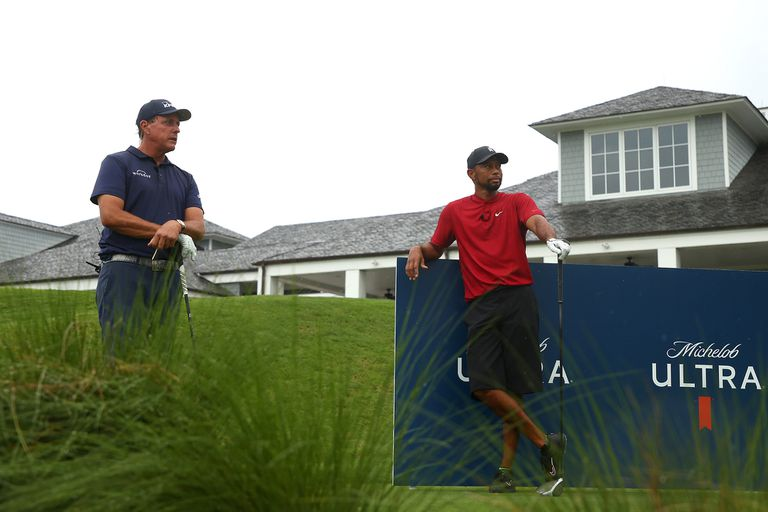 Phil Mickelson y Tiger Woods