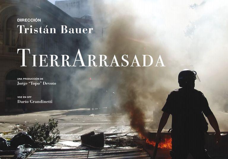"""El documental de Tristán Bauer, """"Tierra Arrasada"""", tendrá su preestreno mañana"""