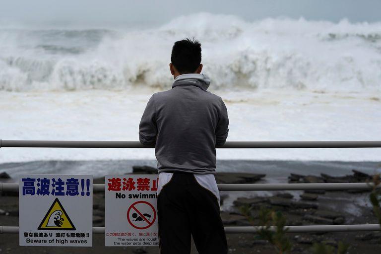 El tifón en Japón