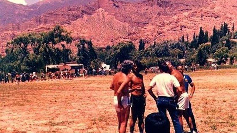 Los jugadores del ''86 y su entrenamiento en Tilcara