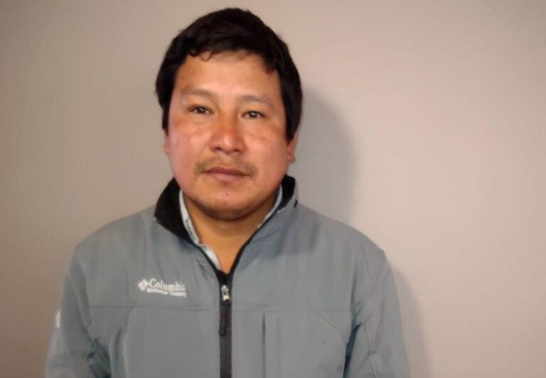 El productor hortícola Benito Rodríguez trabaja en Pedro Luro