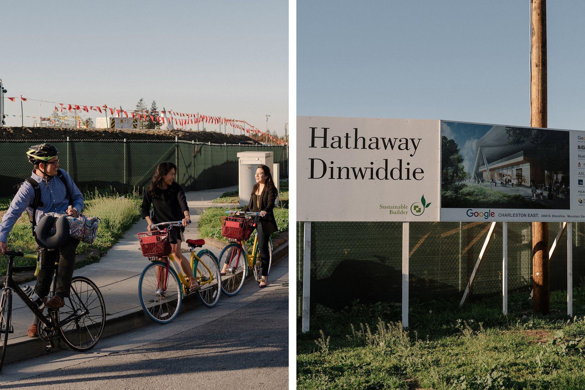 Obras en Mountain View, California, donde Google planea construir 5000 casas
