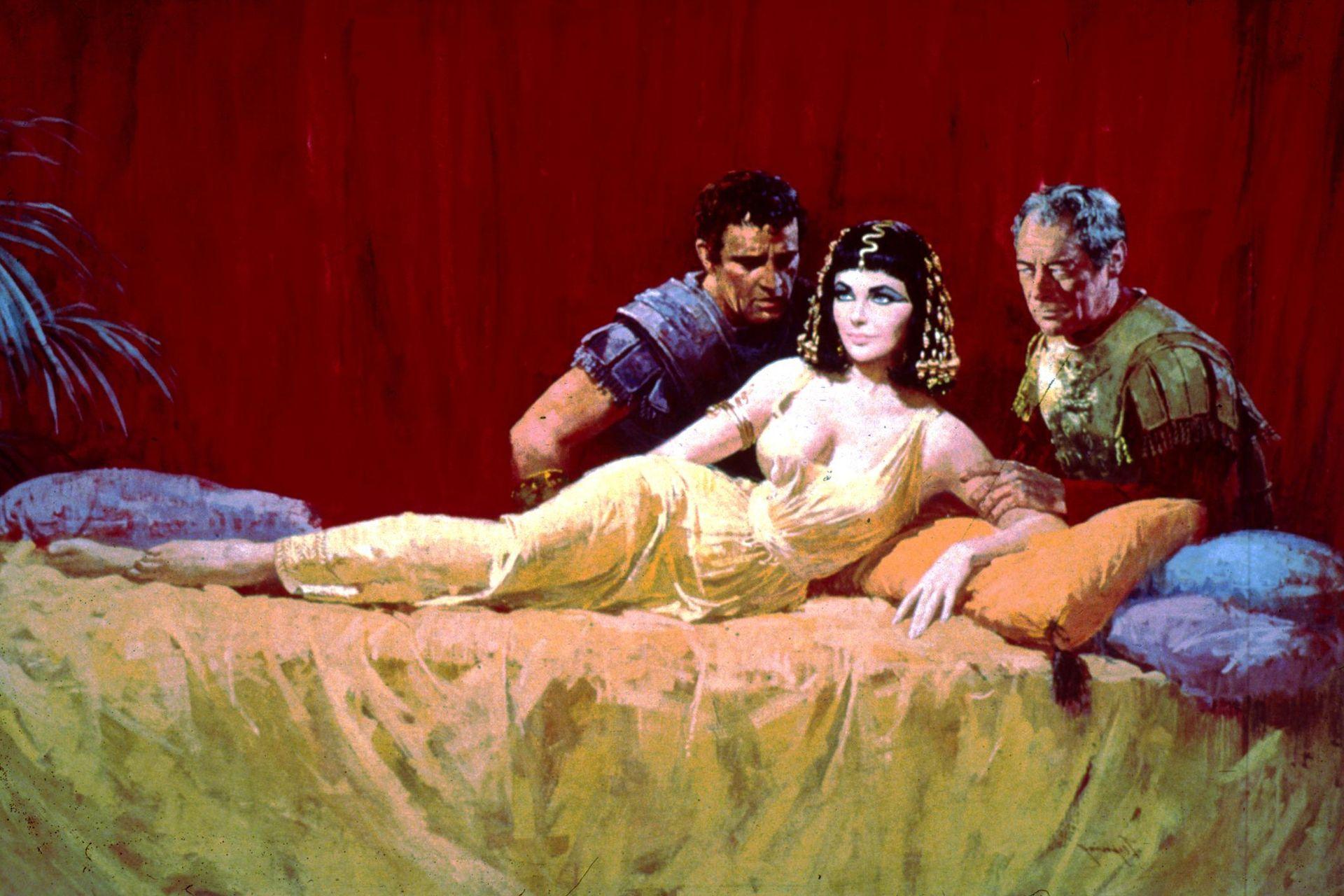 Burton, Taylor y Harrison, protagonistas del póster original de Cleopatra