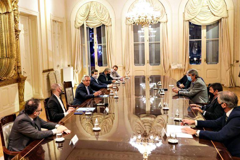 La reunión entre Fernández y el CAA