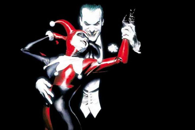 Harley y el Guasón según el dibujante Alex Ross