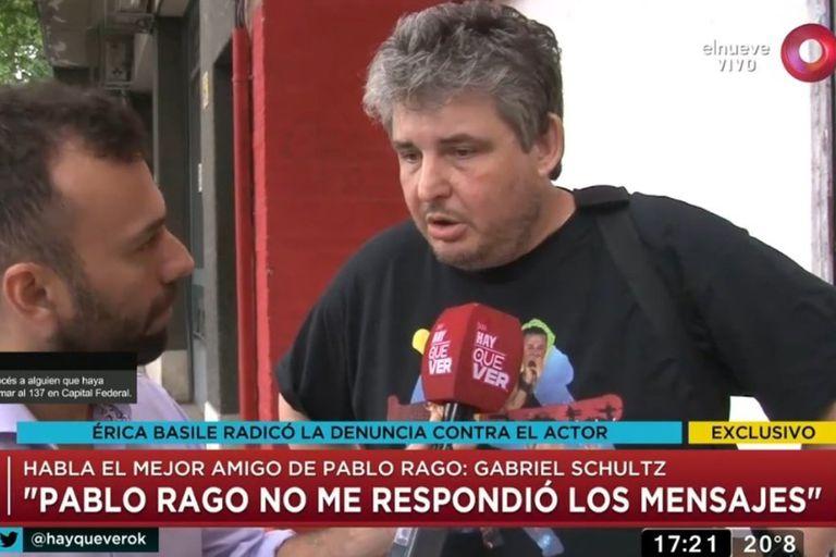 """Gabriel Schultz sobre la denuncia contra Pablo Rago: """"Quiero que no sea verdad"""""""