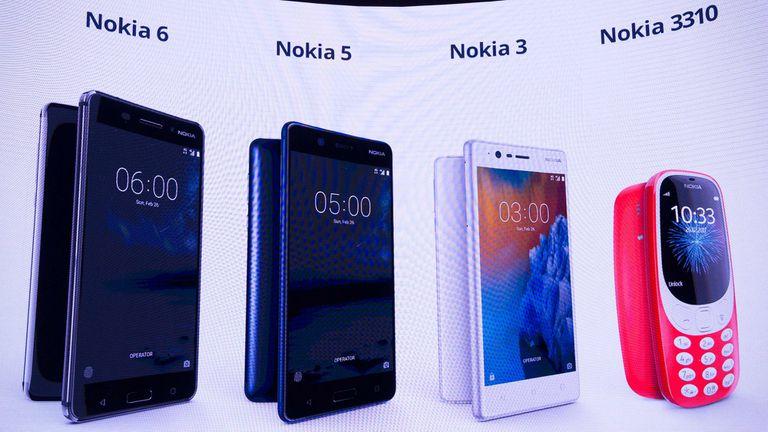 Los cuatro modelos de smartphones que presentó Nokia en el Mobile World Congress 2017 de la mano de HMD
