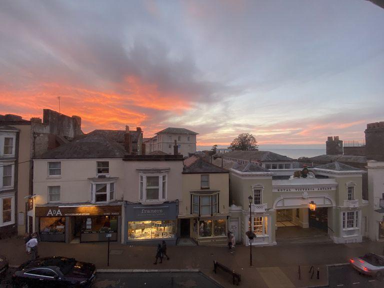 Una de las vistas desde su ventana en la Isla de Wight