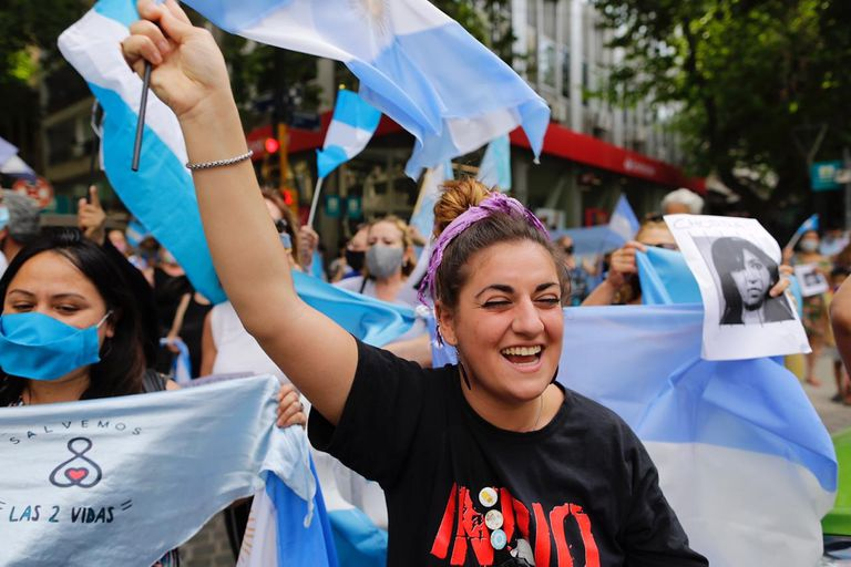 Banderazo #8N en Mendoza.