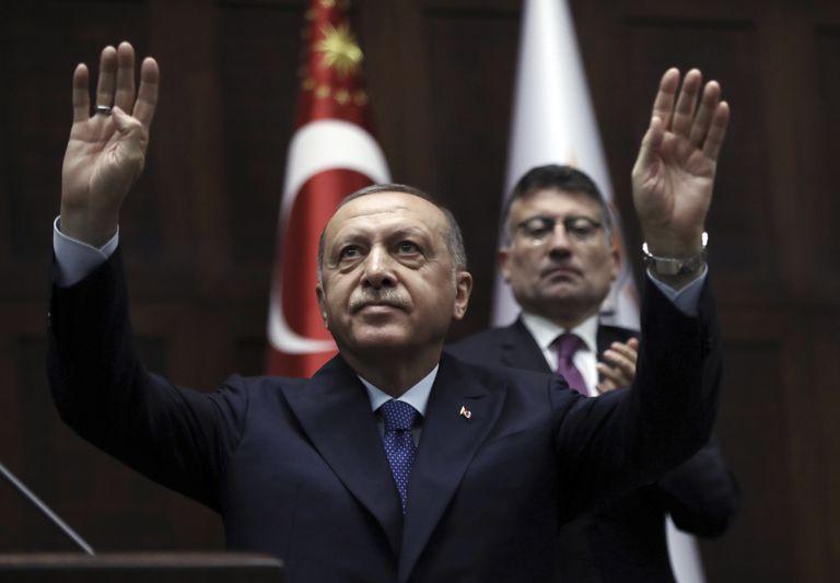 Foto tomada el 16 de octubre del 2019 del presidente turco Recep Tayyip Erdogan en Ankara. (Foto AP/Burhan Ozbilici, File)