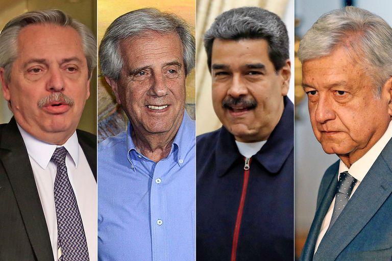 Alberto Fernández, Tabaré Vázquez, Nicolás Maduro y Andrés Manuel López Obrador