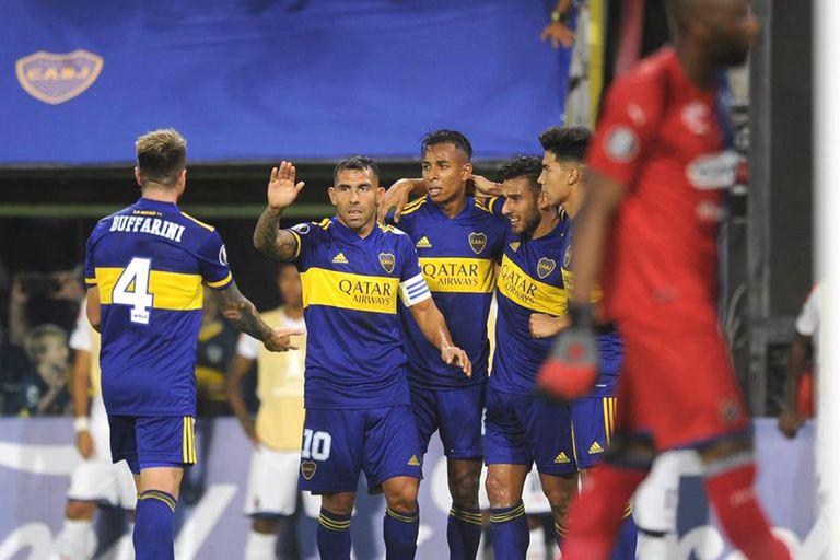 El festejo tras el segundo gol de Salvio