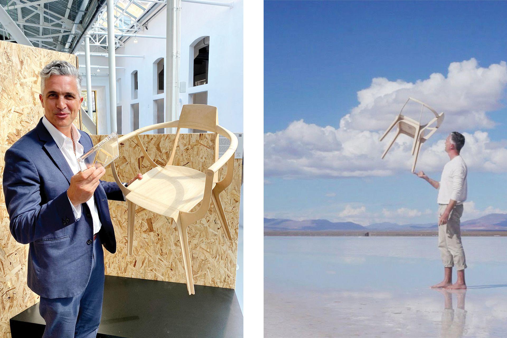 Desde que en 2011 ganó el Compasso d'Oro (el premio más codiciado del diseño industrial italiano) por la lámpara 'Hope', entró en un círculo de consagrados. En 2020 volvió a repetir el suceso con la silla 'Eutopia'.