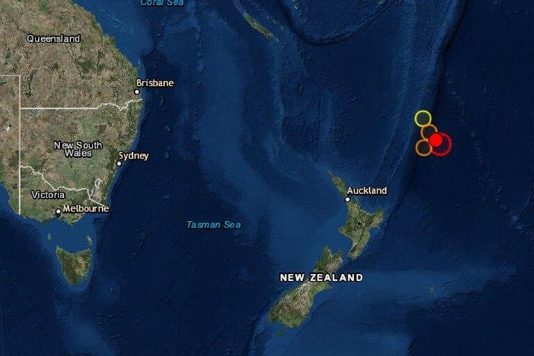 Ocurrió en la región de las islas Kermadec, en el océano Pacífico