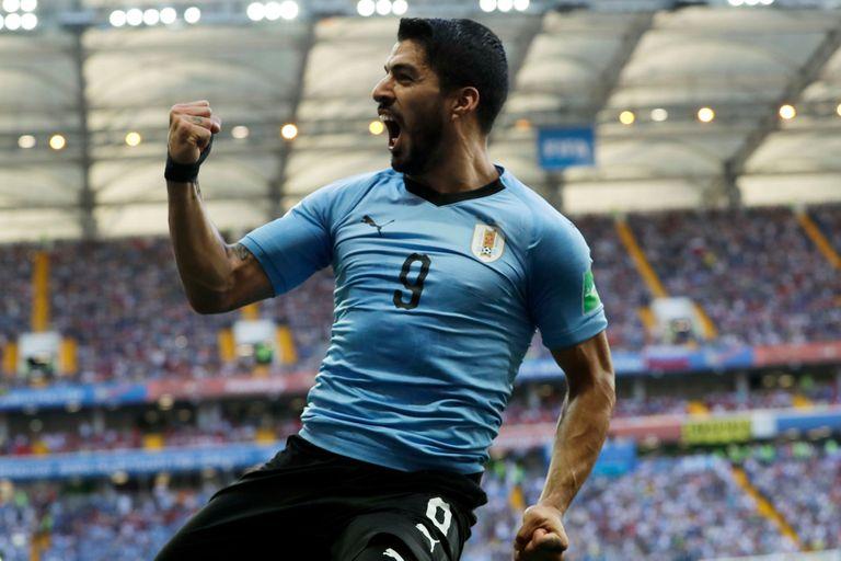 Histórico. Suárez se convirtió en el primer uruguayo en marcar en tres Mundiales