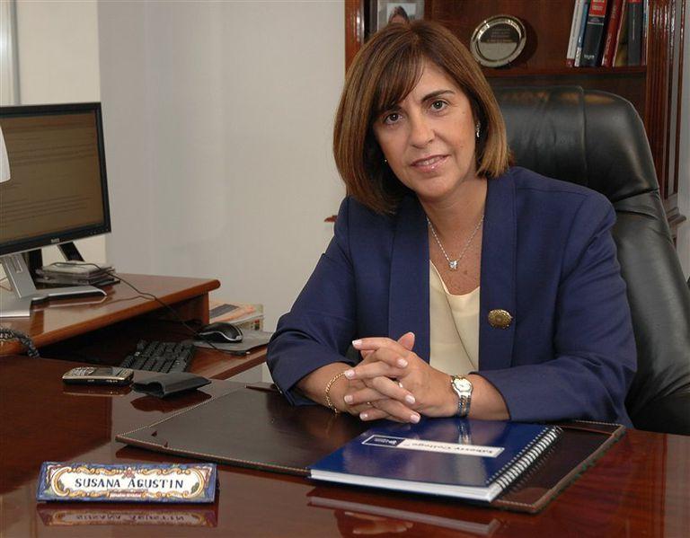 Susana Agustín, en su oficina de presidenta de Liberty Seguros