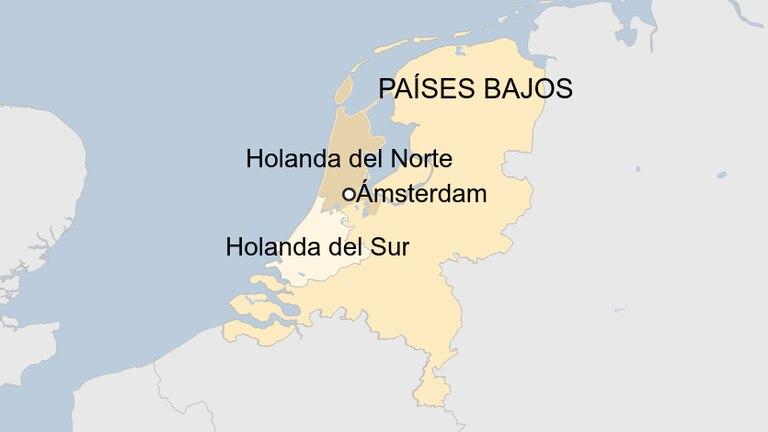 Mapa del país y las distintas regiones