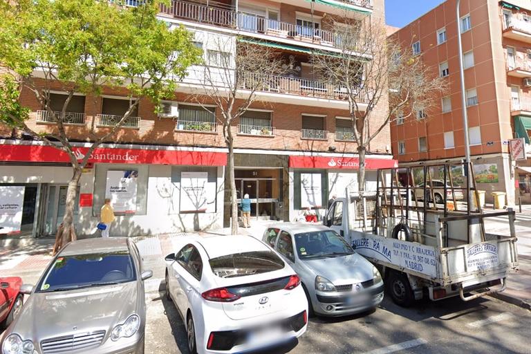 El edificio en donde fue encontrada la anciana, en Madrid.