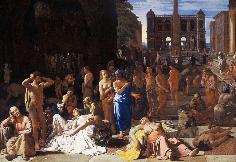 La plaga de Atenas de Michiel Sweerts, c. 1652-1654