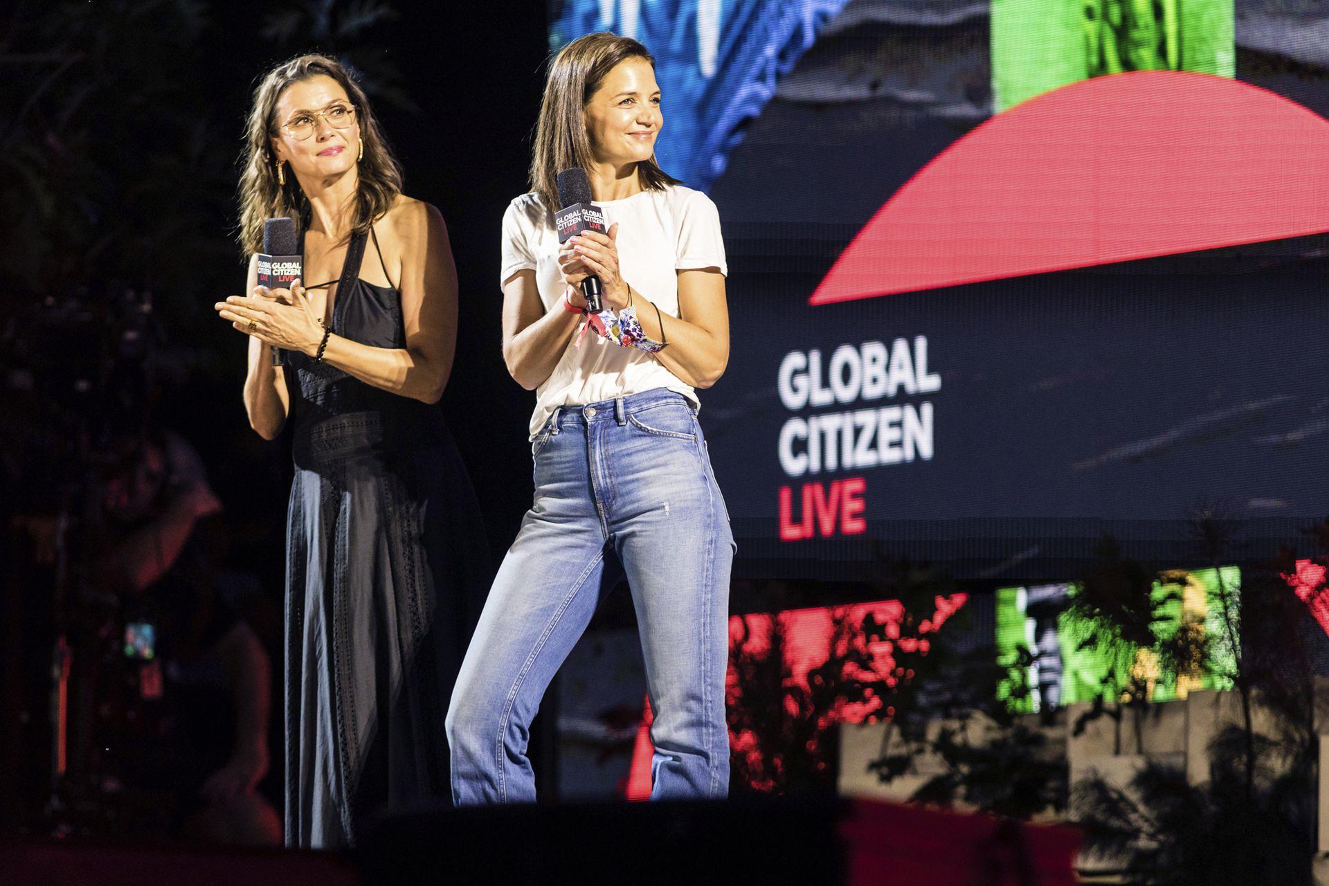 Las actrices Bridget Moynahan y Katie Holmes también participaron del festival y tomaron la palabra en Nueva York ante la gran convocatoria