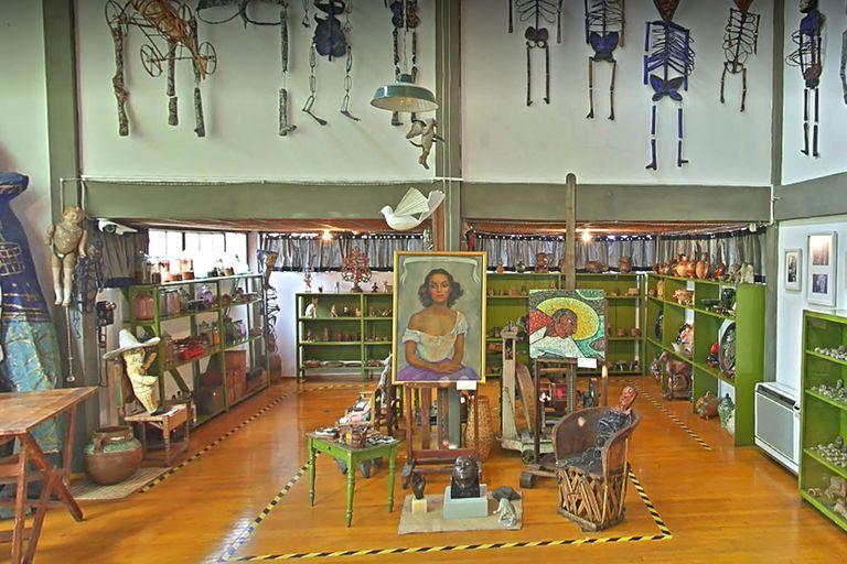 Vista del taller de Diego Rivera, en México, desde la plataforma de Google
